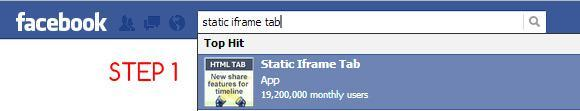 custom Facebook tab