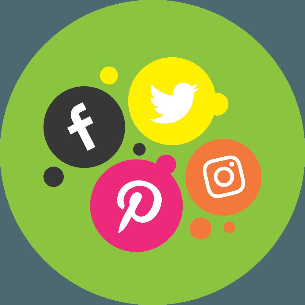 Facebook Twitter Instagram Pinterest Social Media Logos
