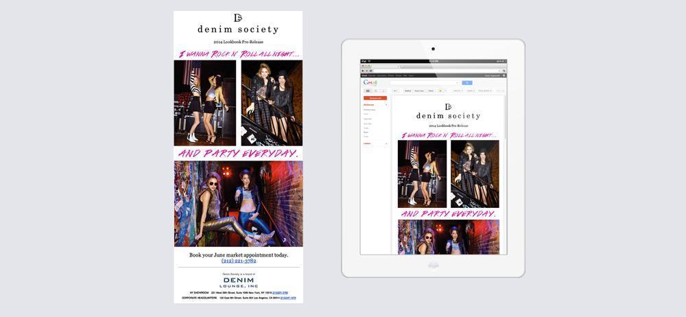 DenimSociety Mailchimp Design