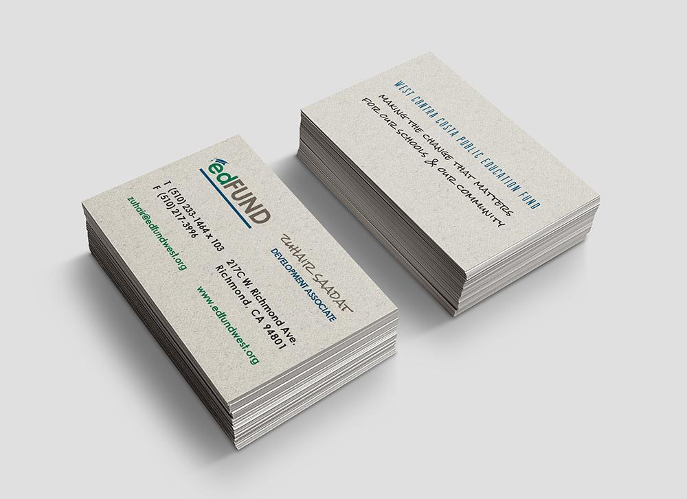 Ed Fund Business Card Design