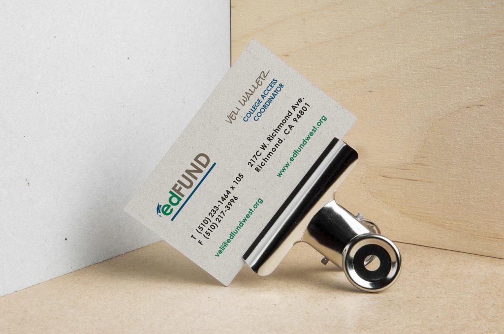 Ed Fund Business Card Design