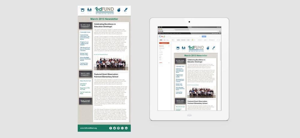 Ed Fund custom MailChimp design