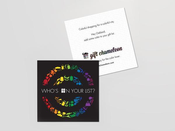 Gift chameleon postcard design