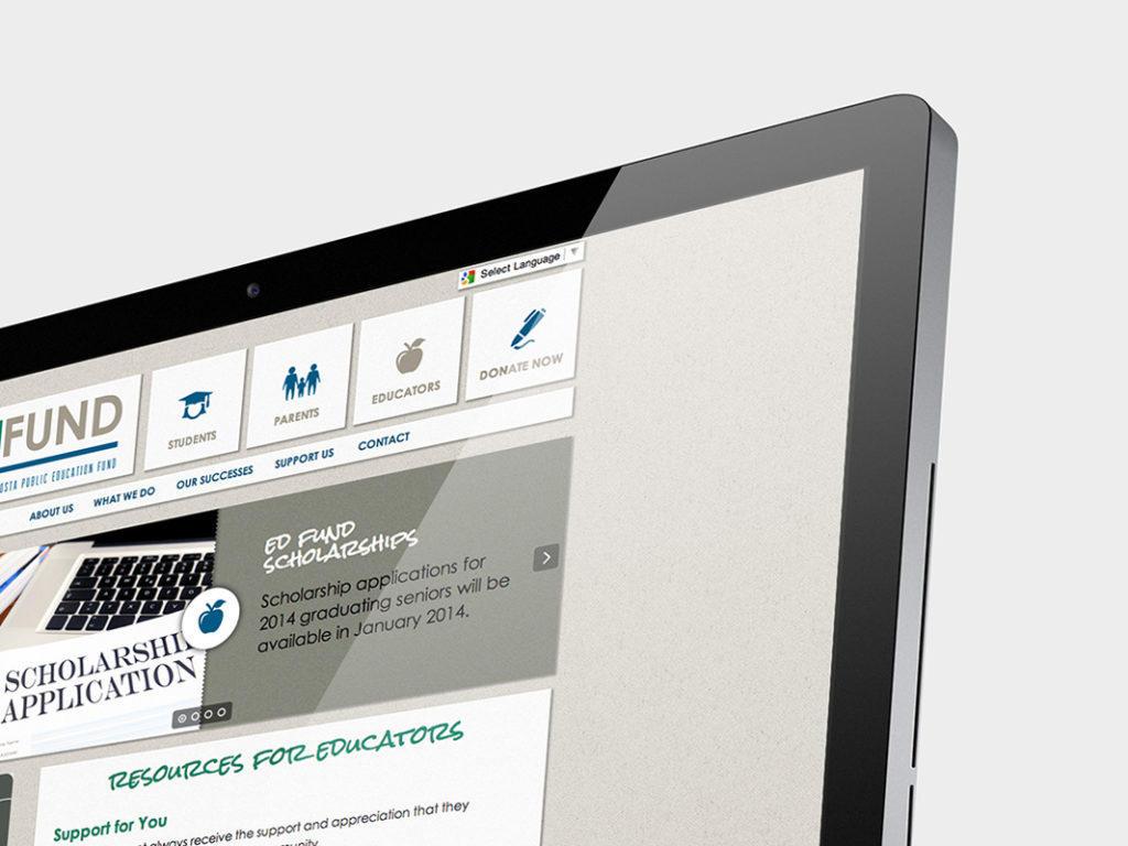 Ed Fund custom website design and development