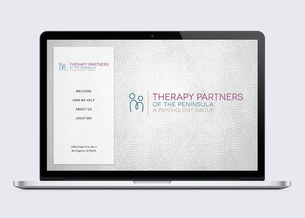 Therapy Partners of the Peninsula Website Design