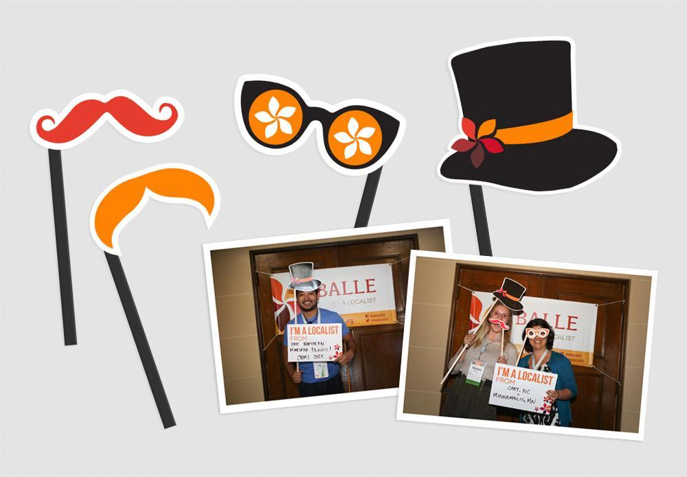 BALLE branded photobooth accessories