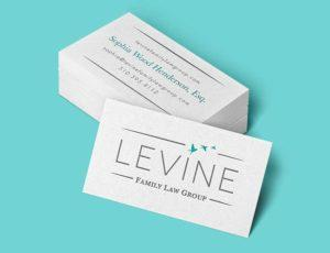 Levine Family Law Group Business Card Design