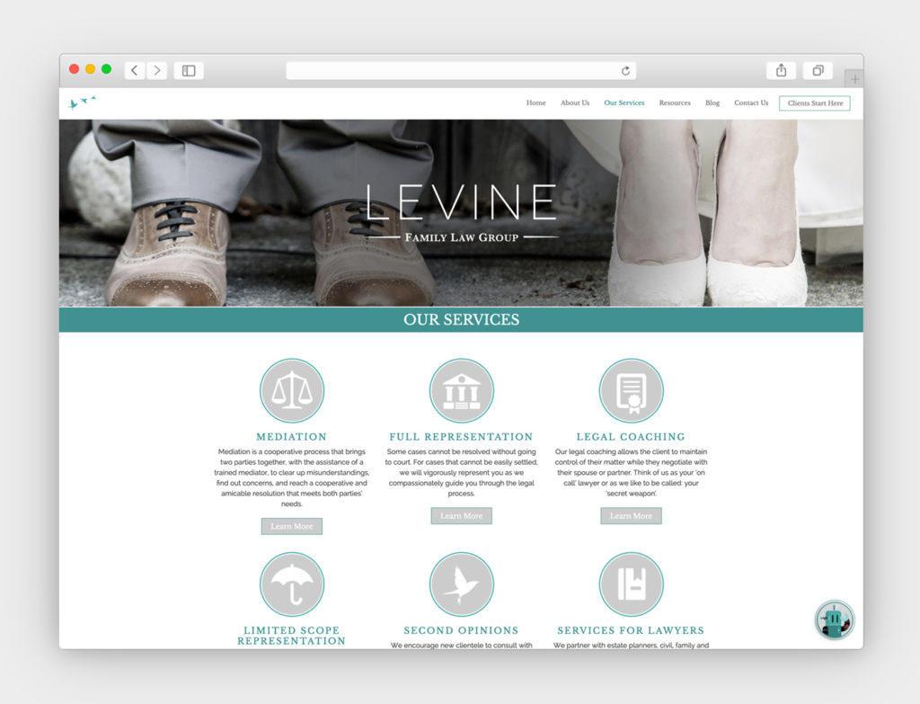 Levine Family Law Group Responsive Website Design & Development