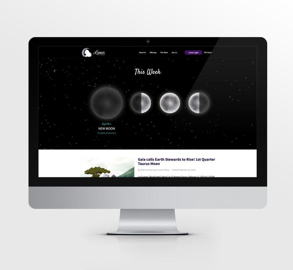 Lunar Ladies custom website design & development