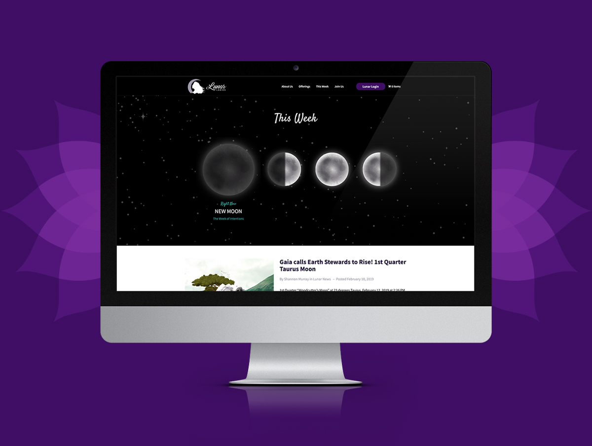Lunar Ladies Custom Website Design & Developement