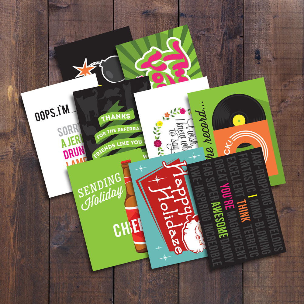 Box Of Assorted Greeting Cards Artsy Geek