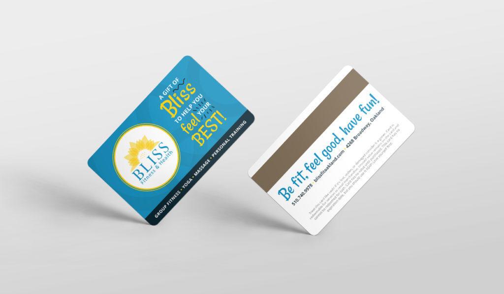 Bliss Fitness custom gift card design