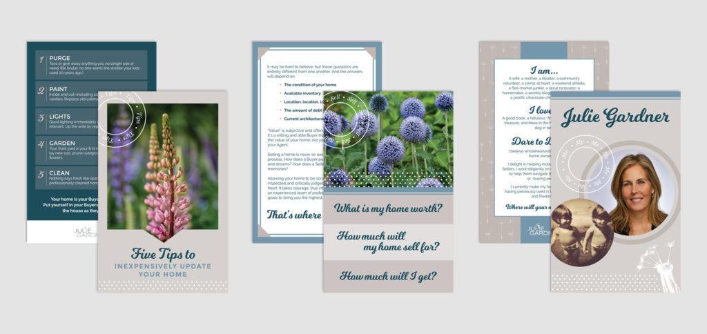 Postcard designs for Julie Gardner