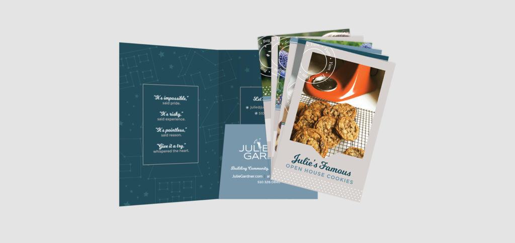 Marketing folio design for Julie Gardner