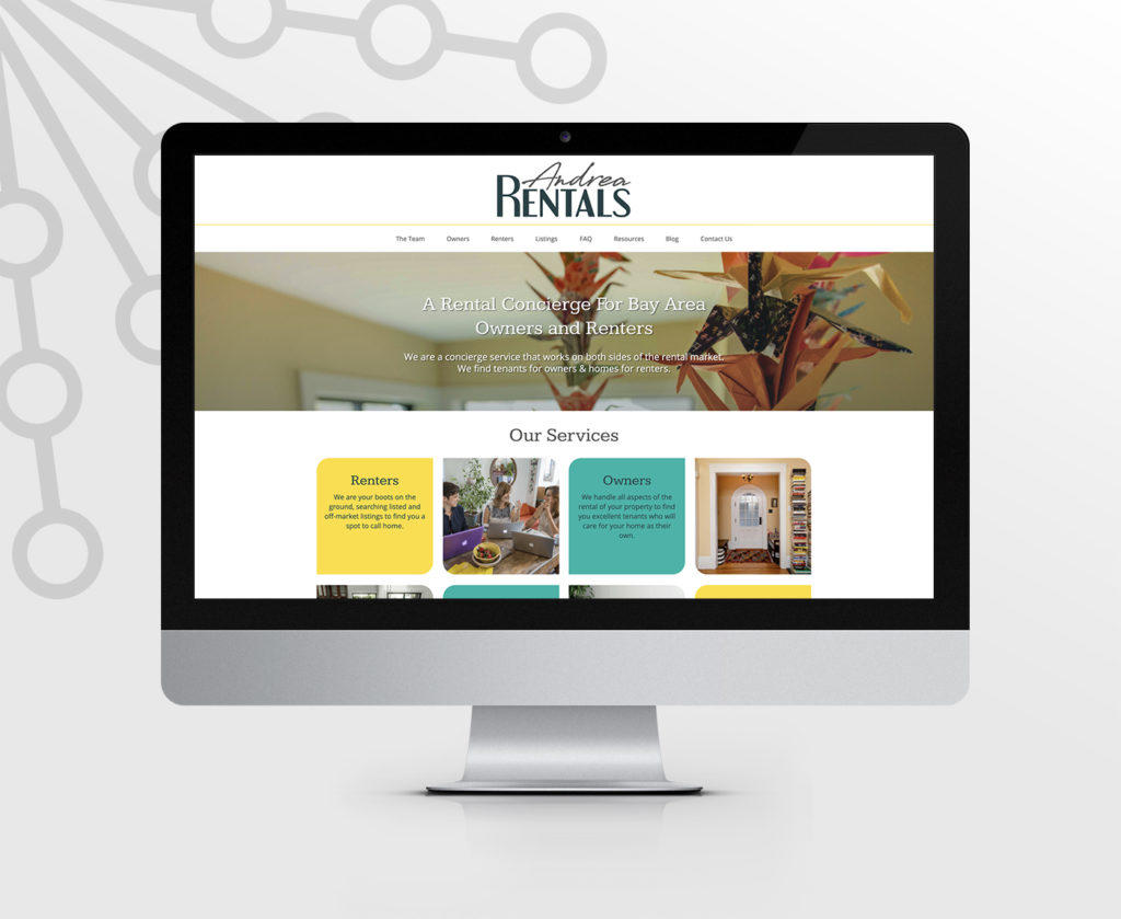 Andrea Rentals responsive website design and development