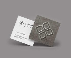 Stone Fleury Business Card Design