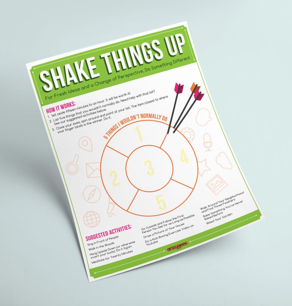 Shake Things Up Worksheet