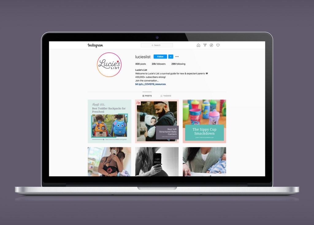 Lucie's List social media profile design