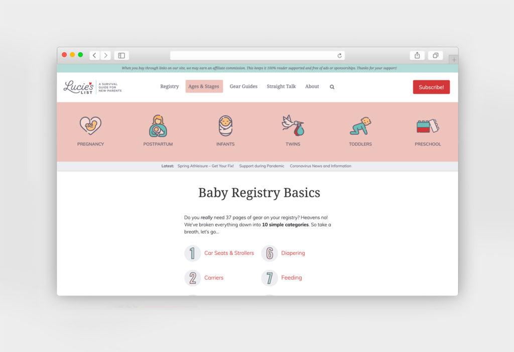 Lucie's List website design