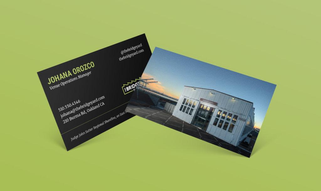 Bridge Yard Oakland business card design