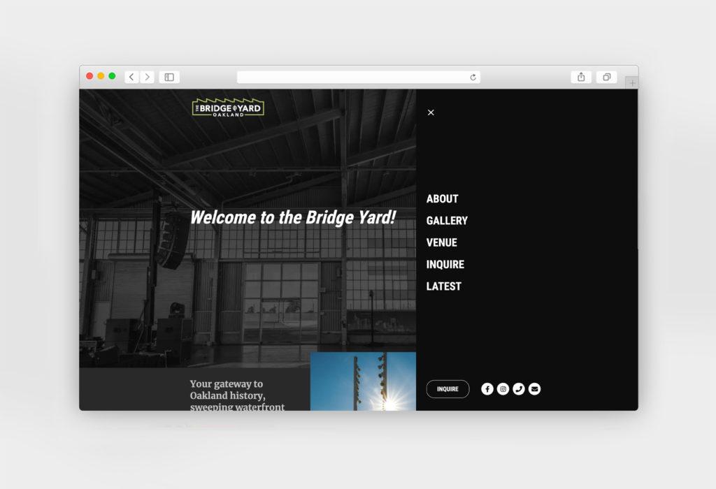 Bridge Yard Oakland website design