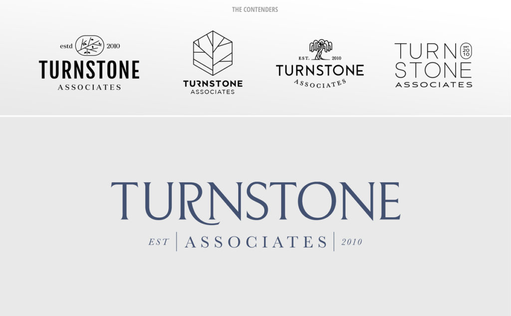 The various versions of the Turnstone Associates logo