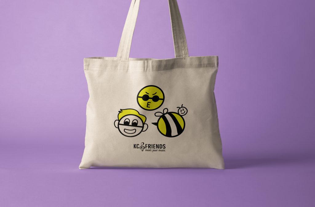 KC & Friends tote bag design