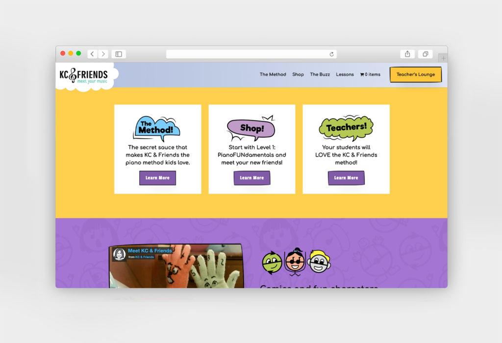 KC & Friends website design