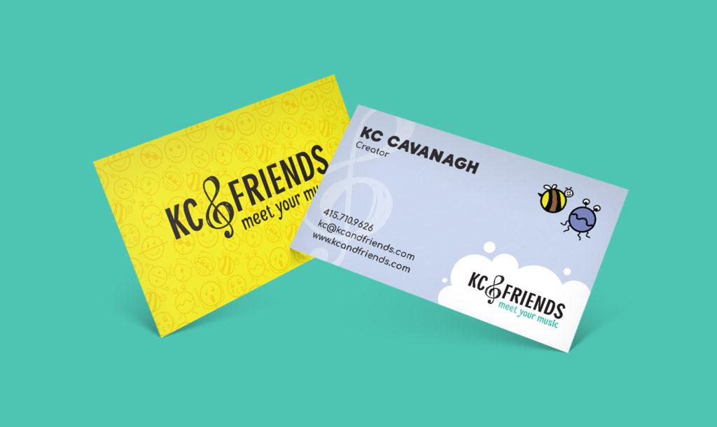 KC & Friends business card design.