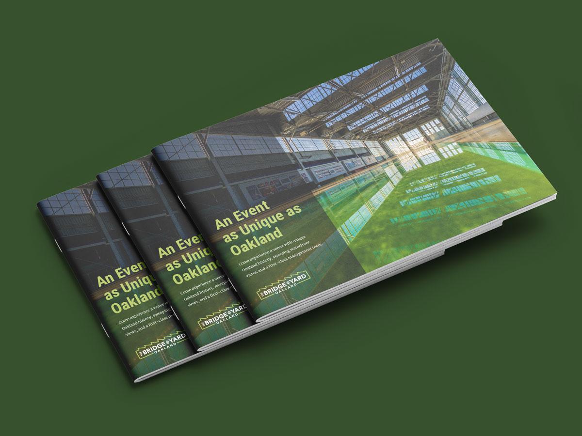 Sales brochure design for the Bridge Yard