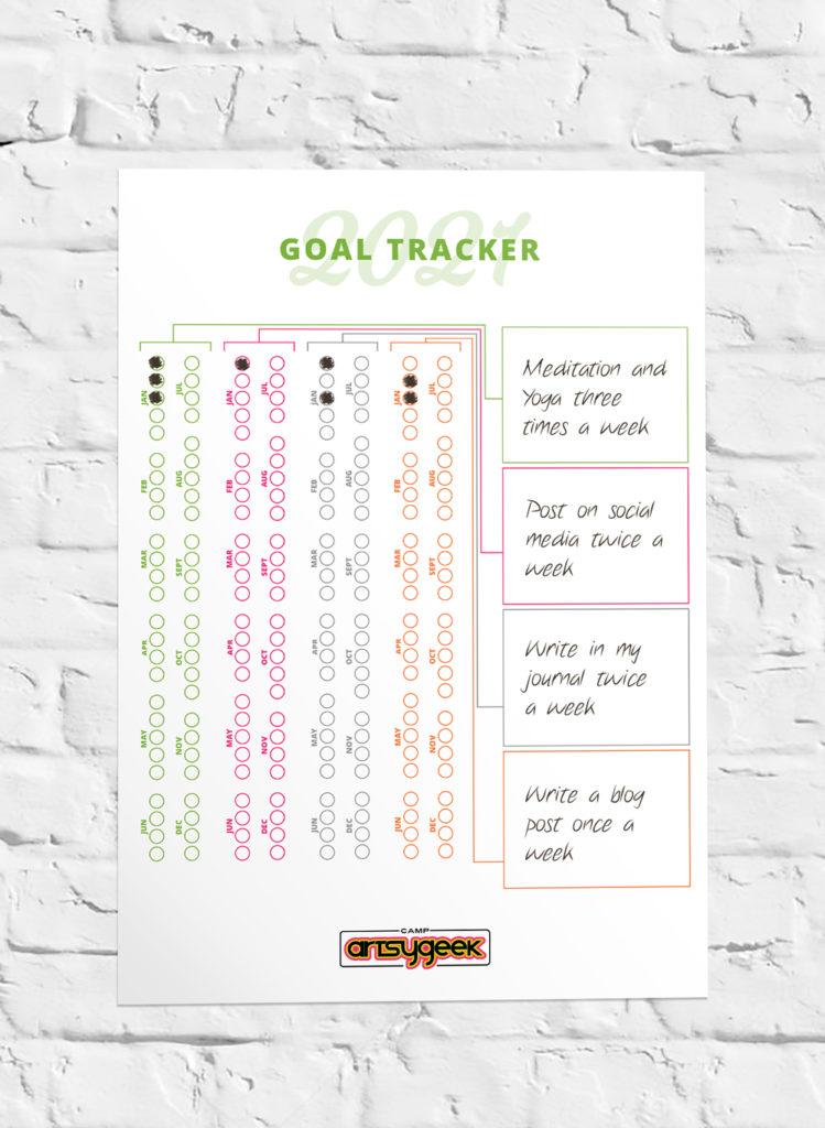 2021 Goal Tracker Poster