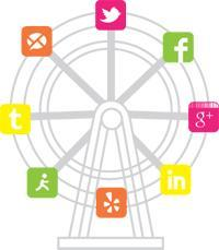 Social Media Services Wheel of Logos