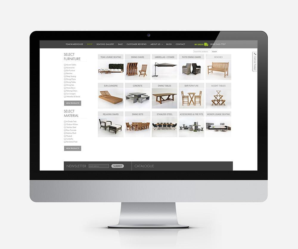 Teak Warehouse online store